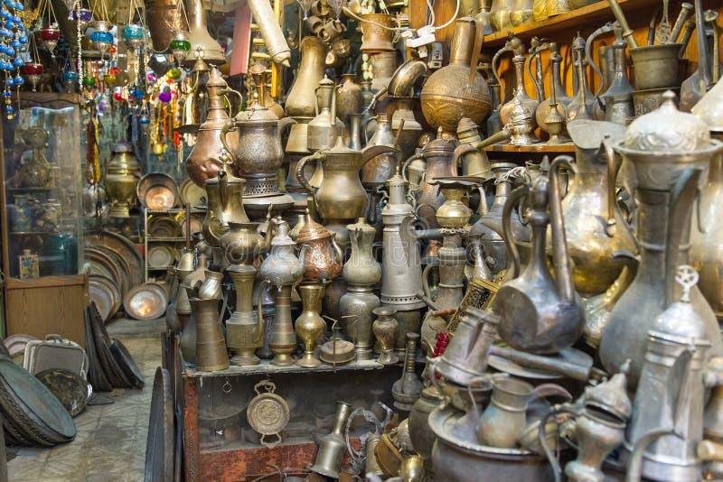 Κατάστημα αναμνηστικών στο αραβικό τέταρτο στοκ εικόνα