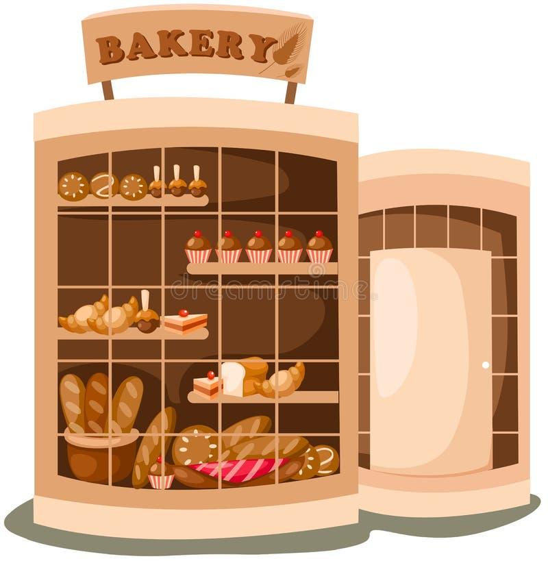 κατάστημα αρτοποιείων διανυσματική απεικόνιση