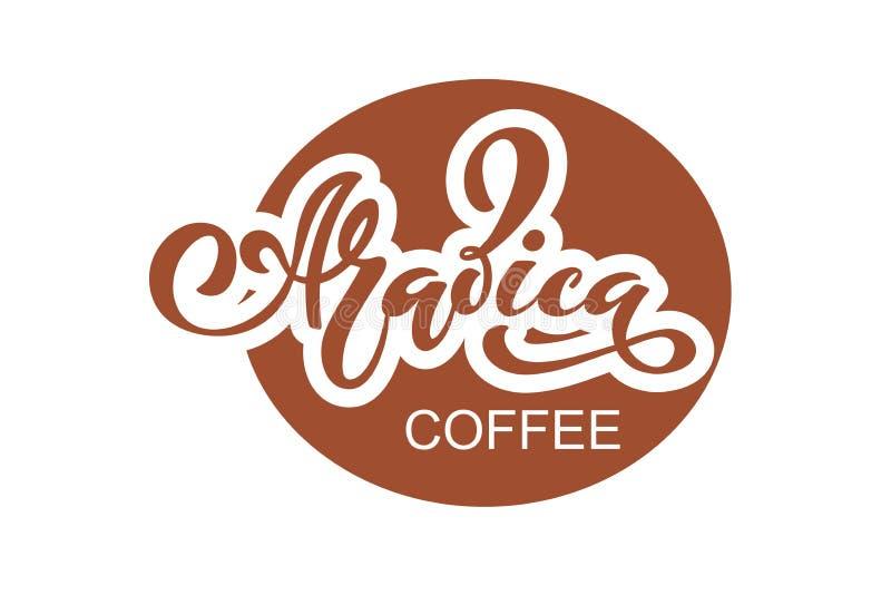 κατάστημα λογότυπων καφέ Διανυσματική απεικόνιση της χειρόγραφης εγγραφής στοιχεία για τη καφετερία, αγορά, σχέδιο καφέδων, επιλο ελεύθερη απεικόνιση δικαιώματος