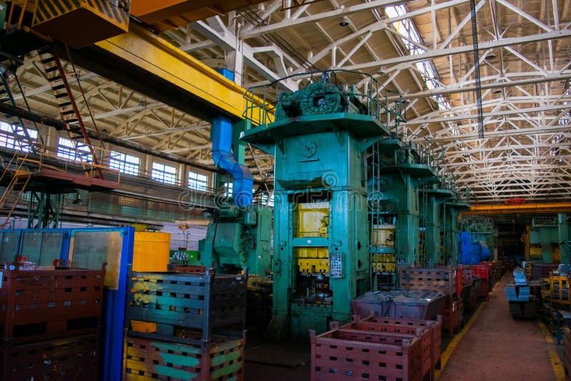 Κατάστημα μηχανών του μεταλλουργικού δωματίου εργασιών στο εσωτερικό στοκ φωτογραφία