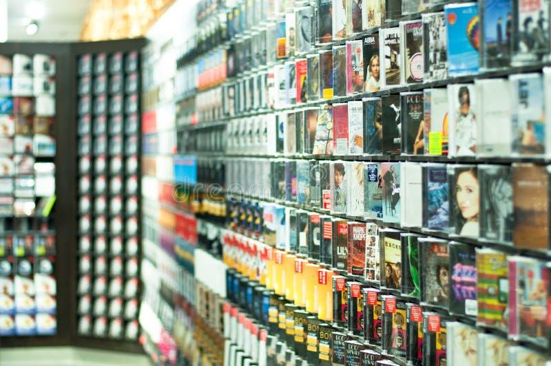 κατάστημα μουσικής Cd στοκ εικόνες