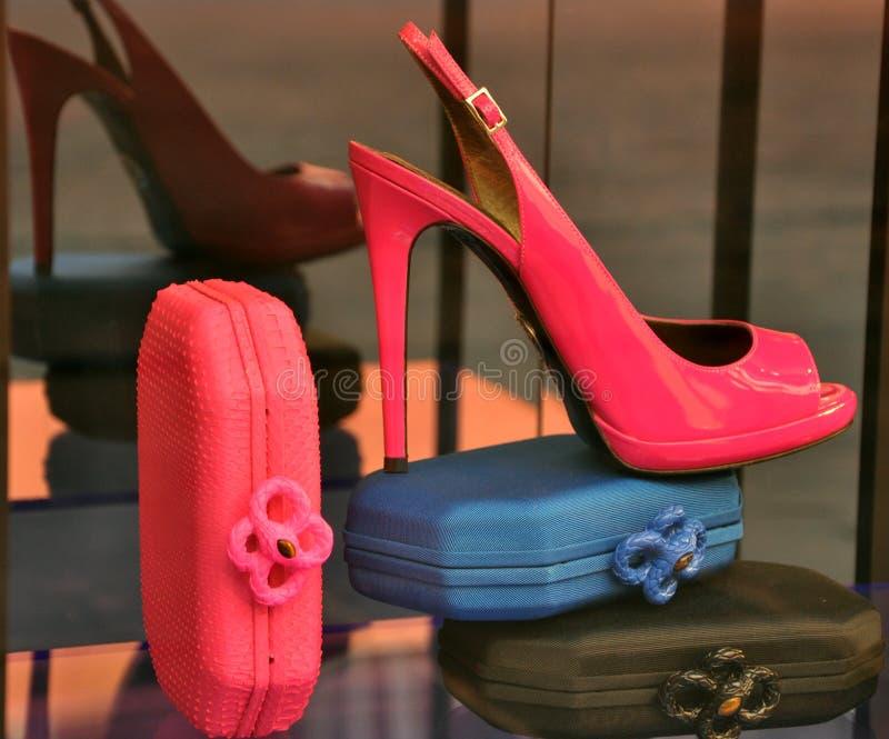 κατάστημα πολυτέλειας της Ιταλίας μόδας στοκ φωτογραφία
