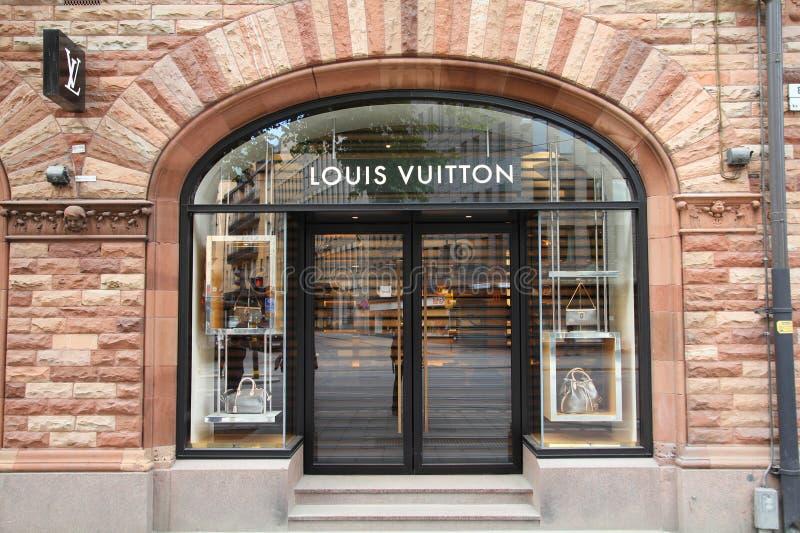 κατάστημα πολυτέλειας του Louis vuitton στοκ εικόνες
