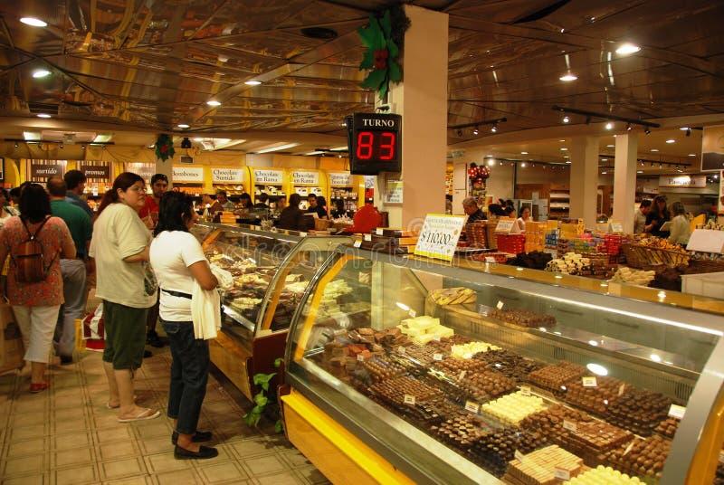 κατάστημα σοκολάτας της  στοκ εικόνες