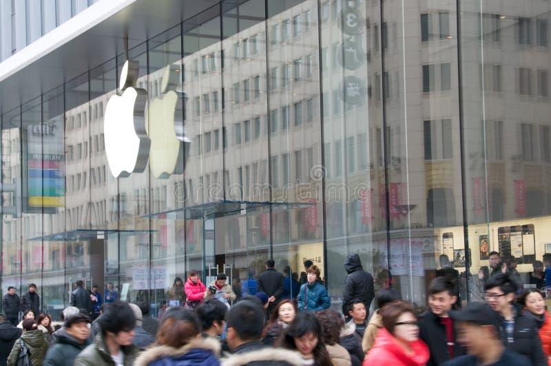 κατάστημα της Σαγγάης μήλων στοκ φωτογραφία με δικαίωμα ελεύθερης χρήσης