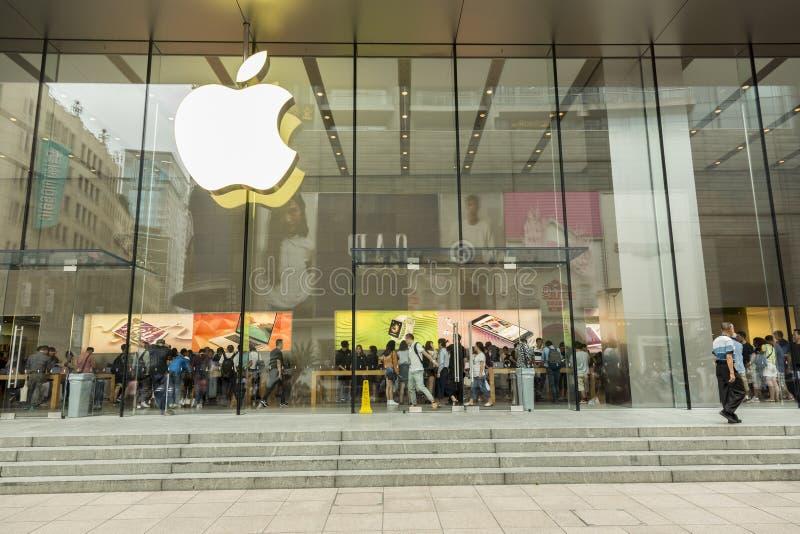 Κατάστημα της Apple στη Σαγκάη, Κίνα στοκ εικόνα
