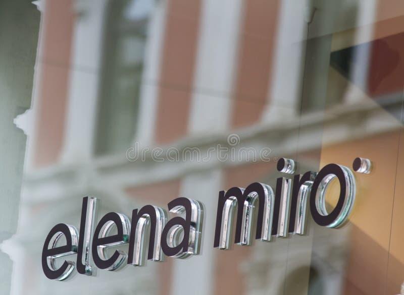 Κατάστημα της Elena Miro στοκ εικόνα
