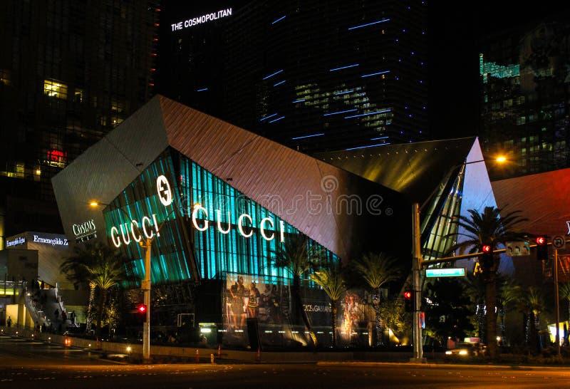 Κατάστημα της Gucci, η λουρίδα, Λας Βέγκας, NV στοκ εικόνες