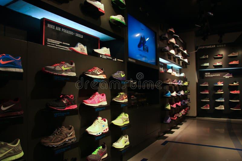 Κατάστημα της Nike στοκ εικόνα