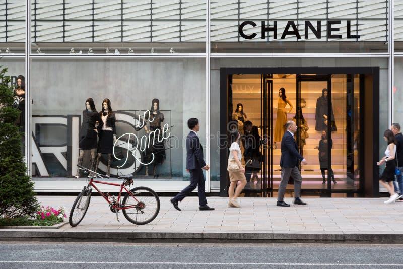 Κατάστημα Τόκιο της Chanel στοκ φωτογραφία με δικαίωμα ελεύθερης χρήσης