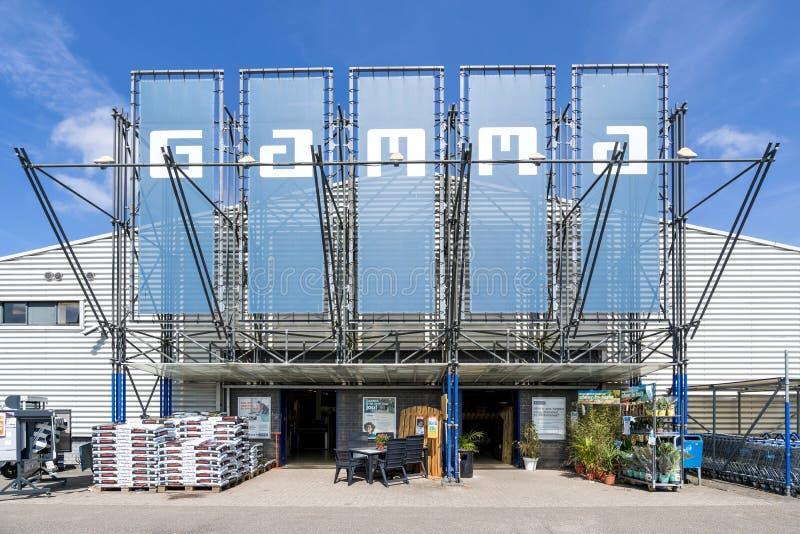 Κατάστημα υλικού γάμμα σε Leidschendam, Κάτω Χώρες στοκ εικόνες