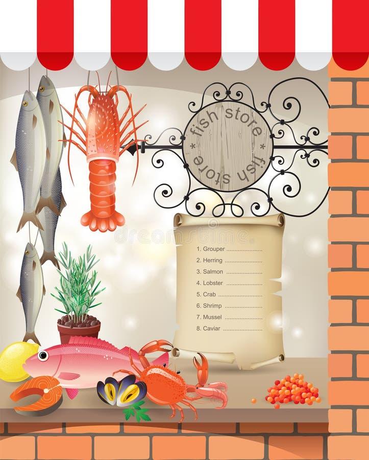 Κατάστημα ψαριών διανυσματική απεικόνιση