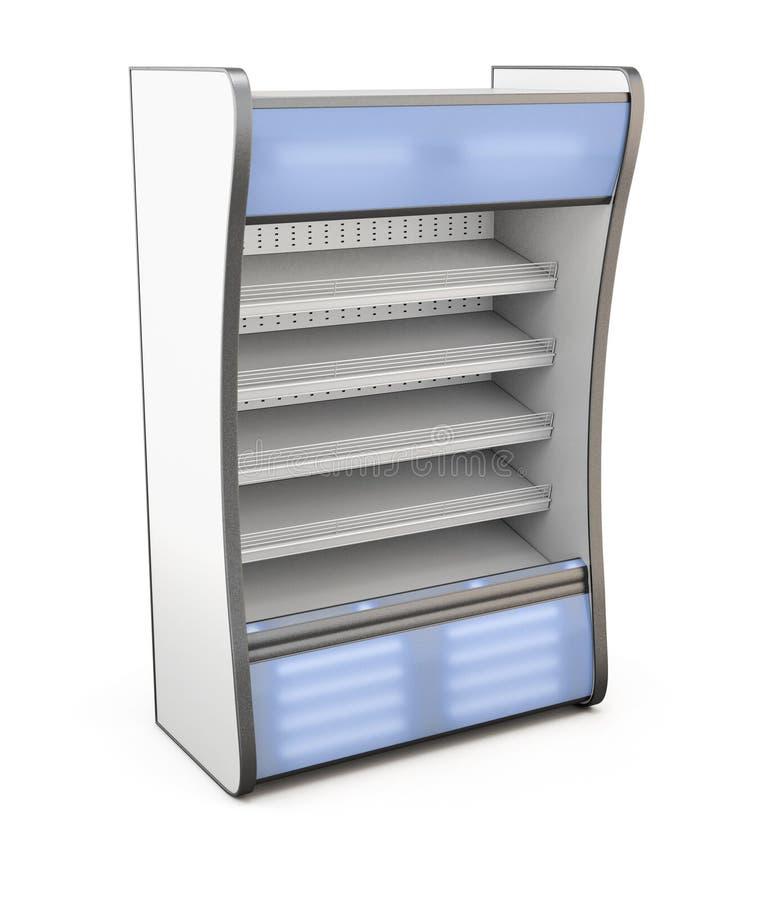 Κατάστημα ψυγείων με το μπλε backlight απεικόνιση αποθεμάτων