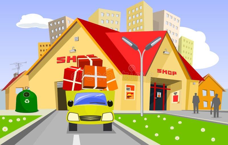 κατάστημα διανυσματική απεικόνιση