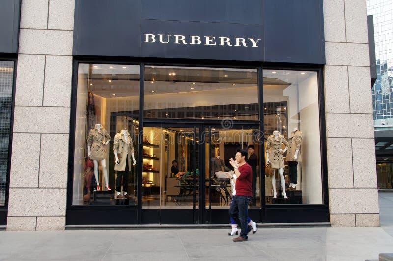 Κατάστημα Burberry στοκ εικόνα