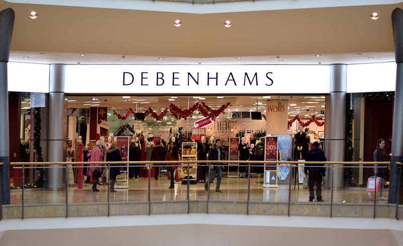 Κατάστημα Debenhams εμπορικό κέντρο αρενών ταυρομαχίας στο Μπέρμιγχαμ, Ηνωμένο Βασίλειο στοκ εικόνες