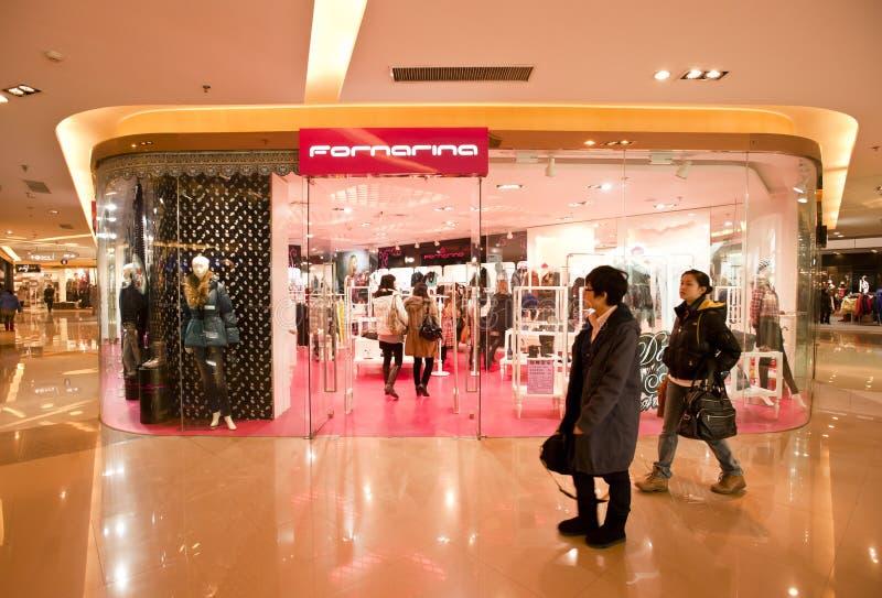 κατάστημα fornarina της Κίνας στοκ φωτογραφίες με δικαίωμα ελεύθερης χρήσης