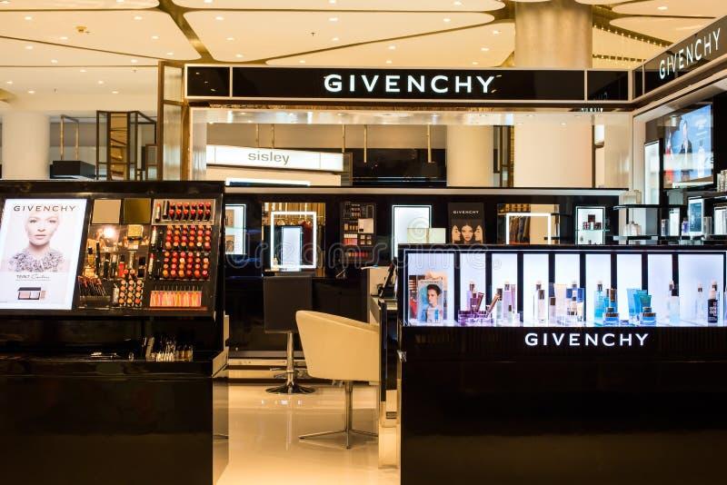 Κατάστημα Givenchy στη λεωφόρο του Σιάμ Paragon Μπανγκόκ στοκ φωτογραφία με δικαίωμα ελεύθερης χρήσης