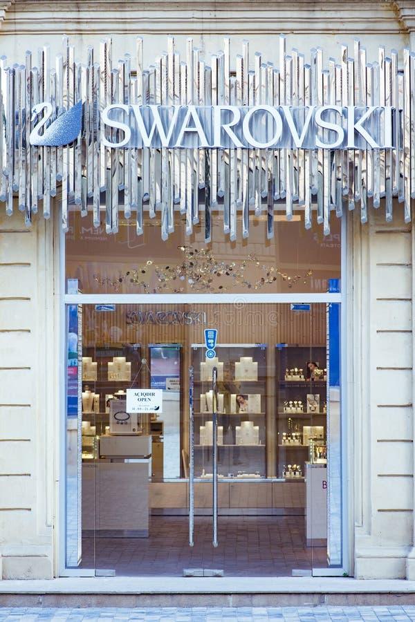 Κατάστημα Swarovski στο Μπακού Αζερμπαϊτζάν στοκ εικόνα