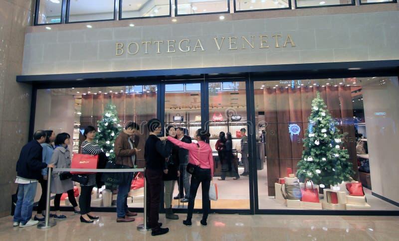 Κατάστημα veneta Bottega στο Χονγκ Κονγκ στοκ φωτογραφίες
