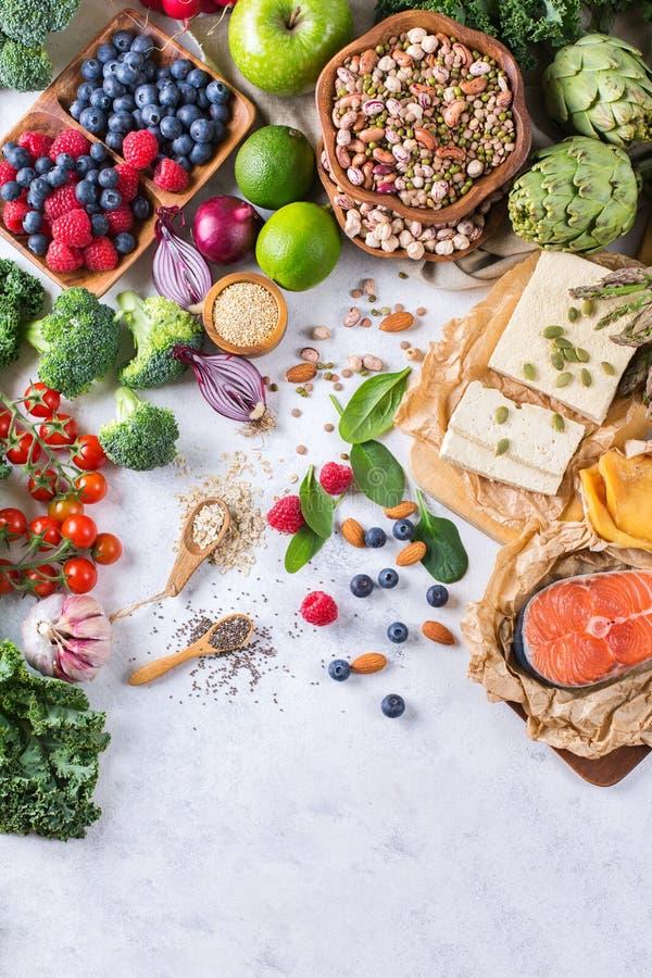 Κατάταξη επιλογής των υγιών ισορροπημένων τροφίμων για την καρδιά, διατροφή στοκ εικόνες