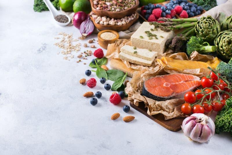 Κατάταξη επιλογής των υγιών ισορροπημένων τροφίμων για την καρδιά, διατροφή στοκ εικόνες με δικαίωμα ελεύθερης χρήσης