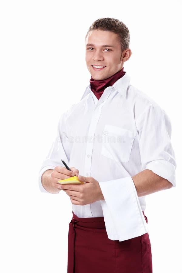 Κατάταξη στο σερβιτόρο στοκ φωτογραφίες