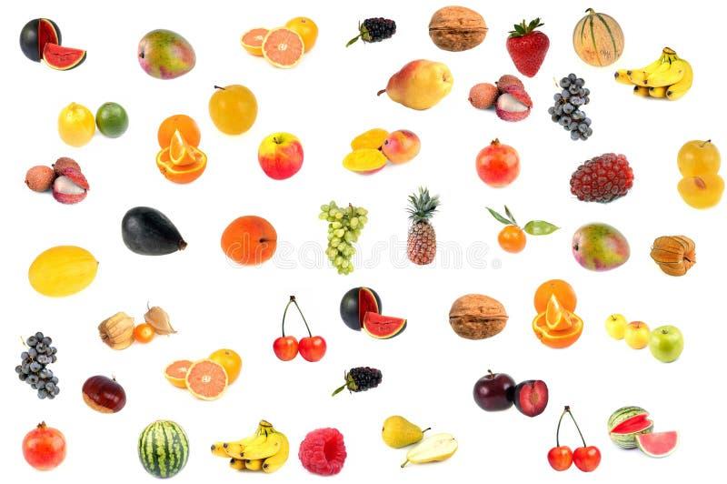 Κατάταξη των φρούτων σε ένα άσπρο υπόβαθρο στοκ φωτογραφίες με δικαίωμα ελεύθερης χρήσης