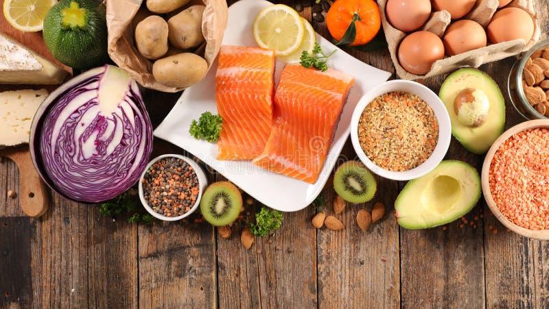 Κατάταξη υγιεινής διατροφής στοκ εικόνες