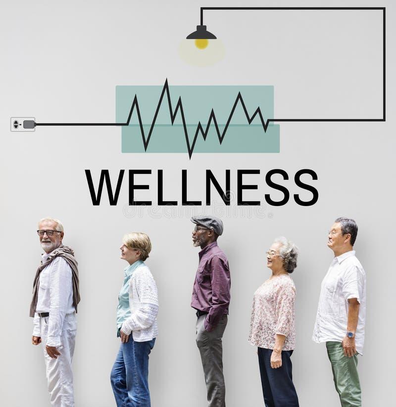 Κατάλληλη έννοια Wellness θεραπείας υγείας στοκ εικόνες