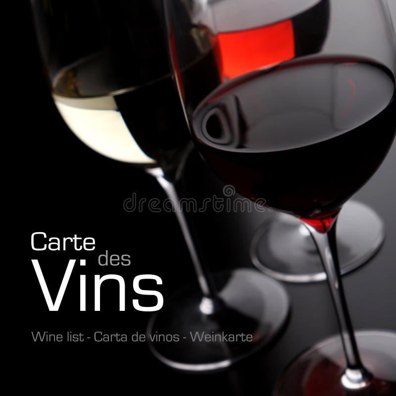 Κατάλογος κρασιού στοκ φωτογραφία