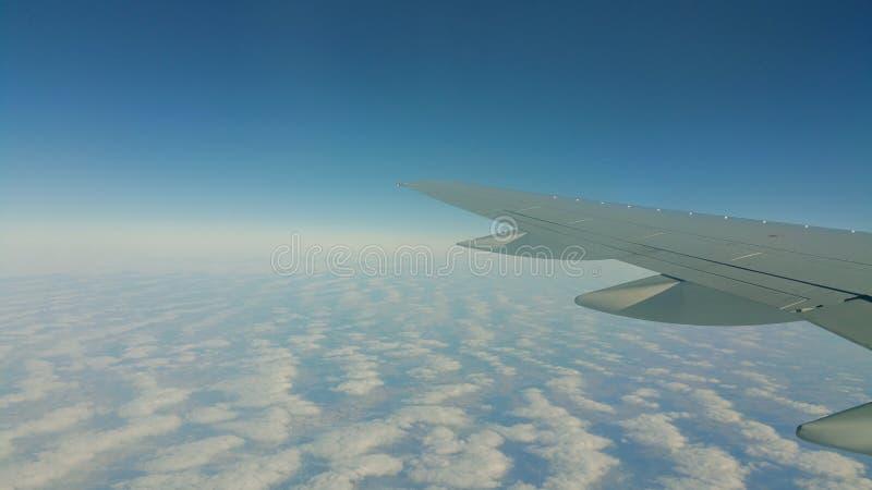 Κατά την πτήση στοκ εικόνα