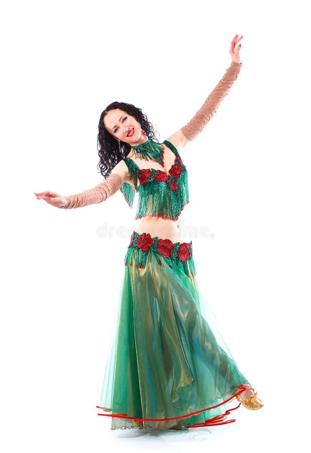 Κατά τη διάρκεια του χορού το νέο κορίτσι που σταματούν στοκ φωτογραφίες με δικαίωμα ελεύθερης χρήσης