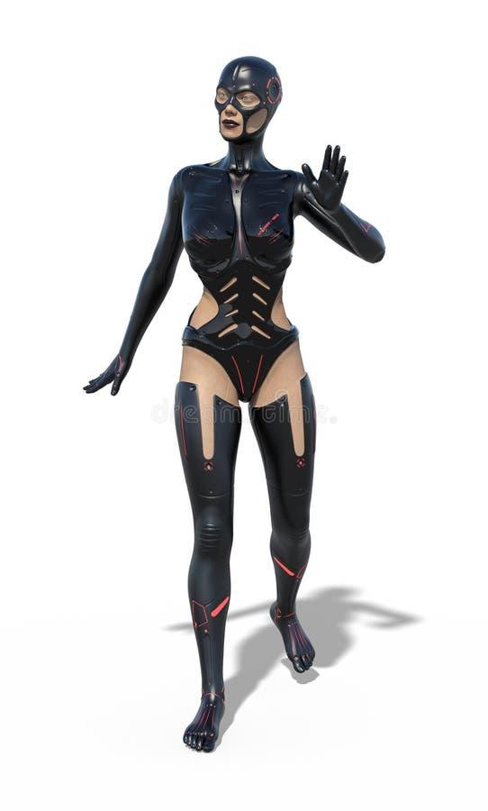 Κατά το ήμισυ ανθρώπινο Cyborg ελεύθερη απεικόνιση δικαιώματος
