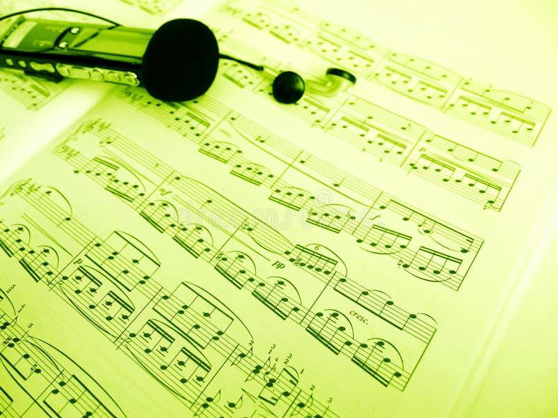 καταγραφή μουσικής στοκ εικόνες με δικαίωμα ελεύθερης χρήσης