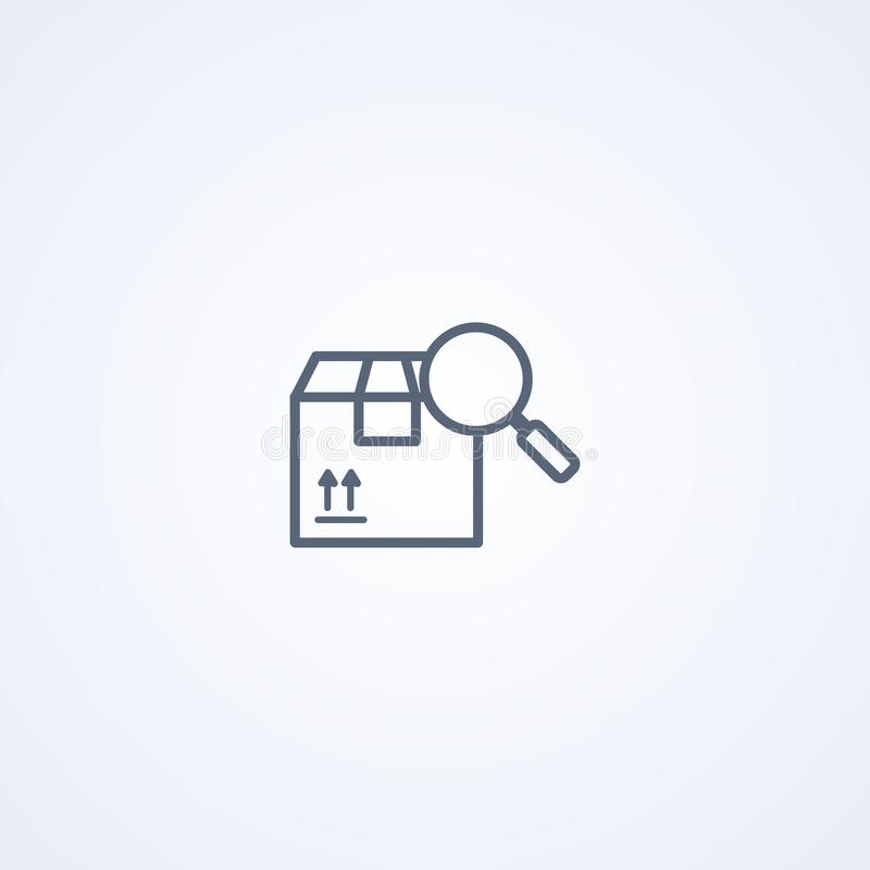 Καταδίωξη συσκευασίας, διανυσματικό καλύτερο γκρίζο εικονίδιο γραμμώ διανυσματική απεικόνιση