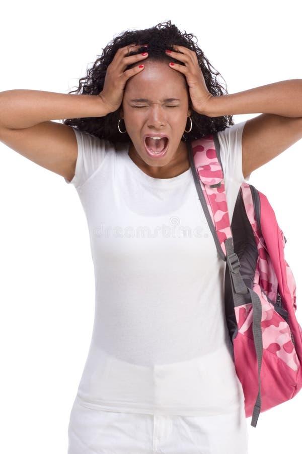 Καταθλιπτική εθνική αφρικανικός-αμερικανική μαύρη γυναίκα στοκ φωτογραφία με δικαίωμα ελεύθερης χρήσης