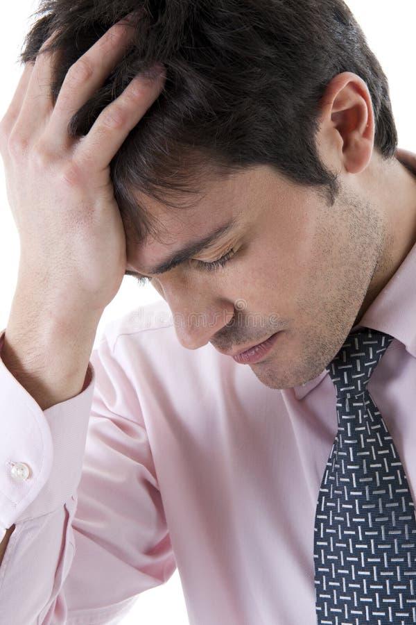 Καταθλιπτικός/κουρασμένος επιχειρηματίας στοκ φωτογραφία με δικαίωμα ελεύθερης χρήσης