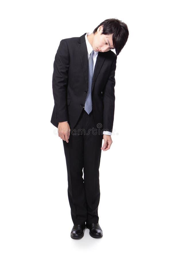 Καταθλιπτικό νέο επιχειρησιακό άτομο στοκ φωτογραφία με δικαίωμα ελεύθερης χρήσης