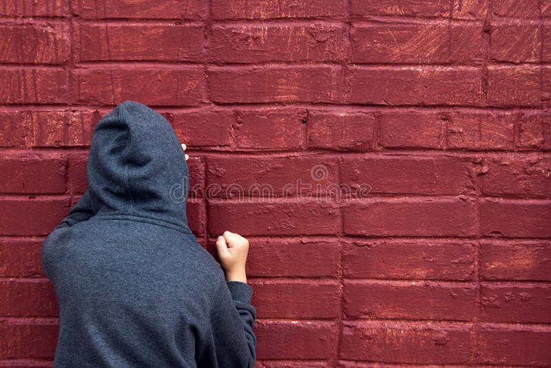 καταθλιπτικός έφηβος στοκ φωτογραφία με δικαίωμα ελεύθερης χρήσης