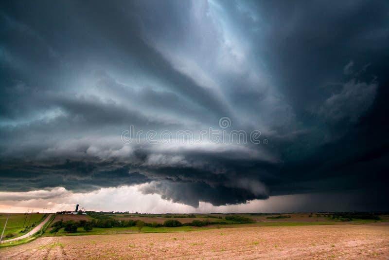 Καταιγίδα Supercell στην κεντρική Νεμπράσκα στοκ φωτογραφίες