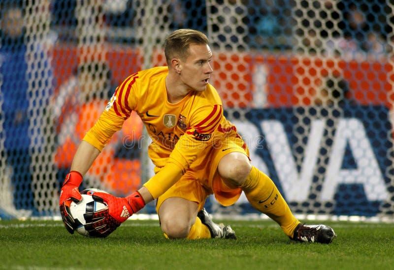 Κατακάθι-Andre ter Stegen FC Βαρκελώνη στοκ εικόνες