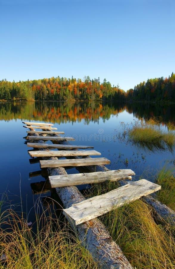 κατακόρυφος λιμνών φθινοπώρου στοκ εικόνα