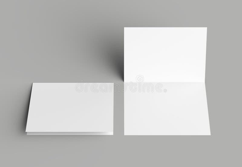 Κατακόρυφος πτυχών βισμουθίου - φυλλάδιο τοπίων ή χλεύη πρόσκλησης επάνω στο isol ελεύθερη απεικόνιση δικαιώματος
