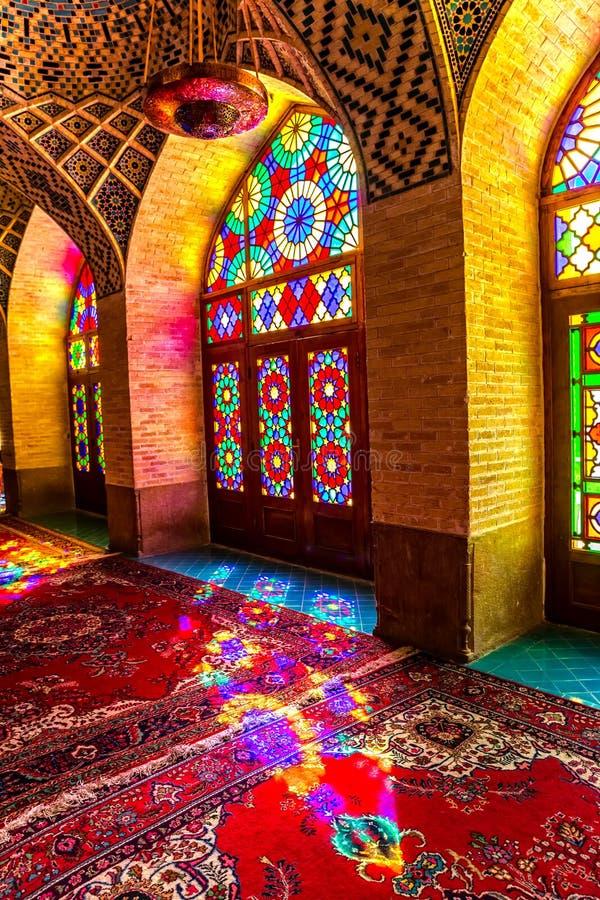 Κατακόρυφος δωματίων επίκλησης μουσουλμανικών τεμενών του Nasir Al-Mulk στοκ φωτογραφία με δικαίωμα ελεύθερης χρήσης