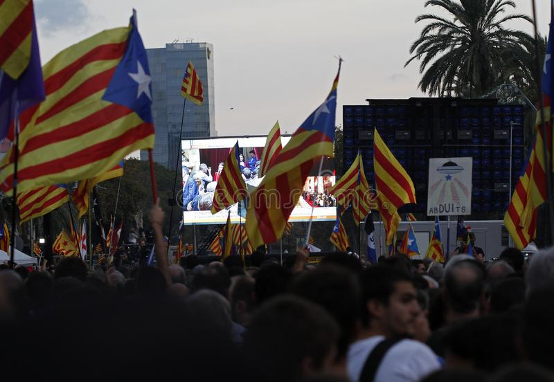 Καταλανική δήλωση ανεξαρτησίας στοκ εικόνα