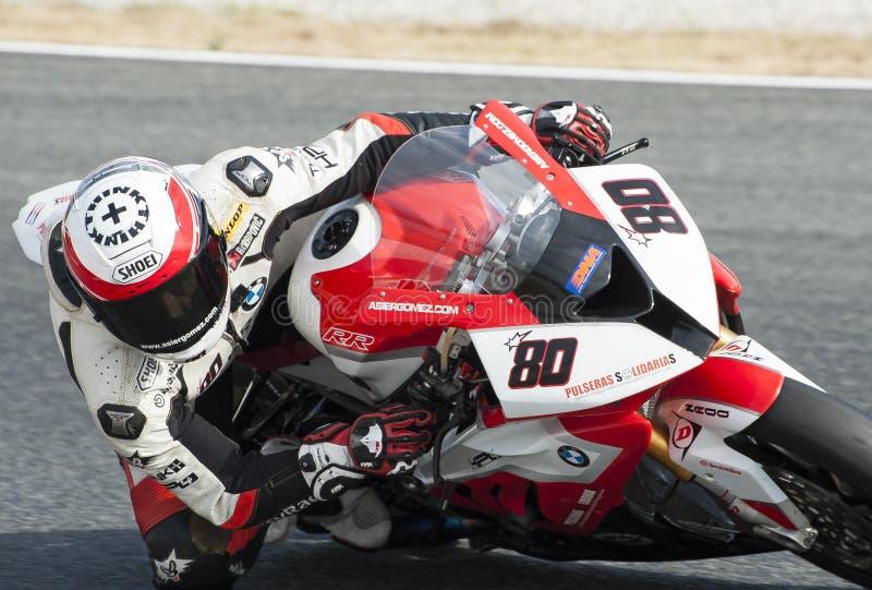 ΚΑΤΑΛΑΝΙΚΟ ΠΡΩΤΑΘΛΗΜΑ MOTORCYCLING - ASIER GOMEZ στοκ φωτογραφία