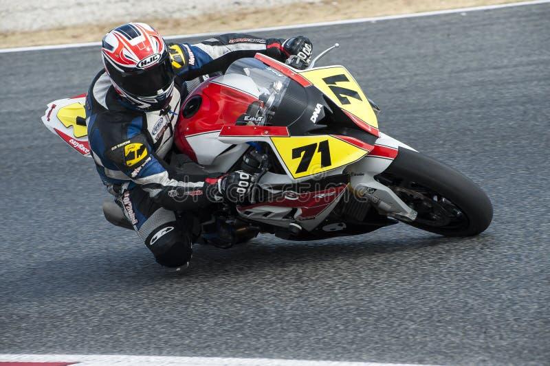 ΚΑΤΑΛΑΝΙΚΟ ΠΡΩΤΑΘΛΗΜΑ MOTORCYCLING - EDUARDO TEJERINA στοκ εικόνα