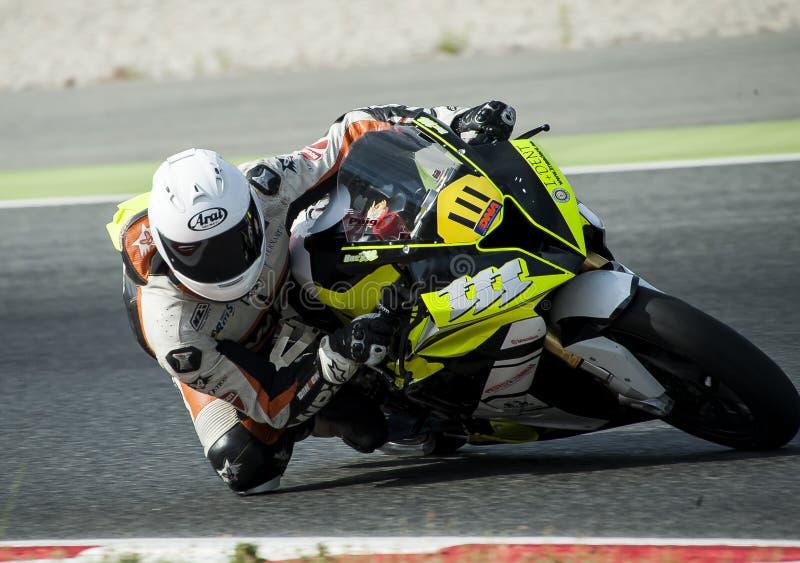 ΚΑΤΑΛΑΝΙΚΟ ΠΡΩΤΑΘΛΗΜΑ MOTORCYCLING - Oscar Arias στοκ φωτογραφίες με δικαίωμα ελεύθερης χρήσης