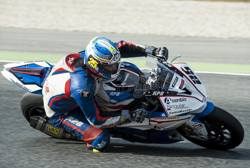 ΚΑΤΑΛΑΝΙΚΟ ΠΡΩΤΑΘΛΗΜΑ MOTORCYCLING - ROBERTO BLAZQUEZ στοκ εικόνα με δικαίωμα ελεύθερης χρήσης